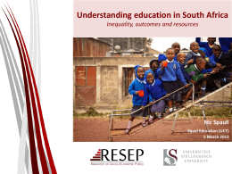 Understanding education in South Africa