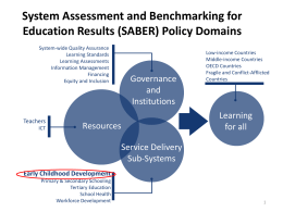 System Assessment and Benchmarking for Education Results
