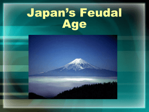 Japan`s Feudal Age - Auburn City Schools