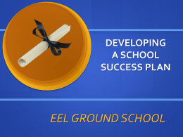 Developing a School Success Plan (Powerpoint Presentation)