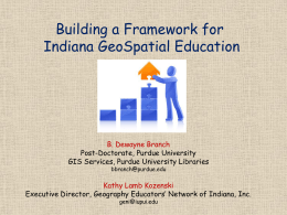 GeoSpatial Technologies for IN Educators and Students