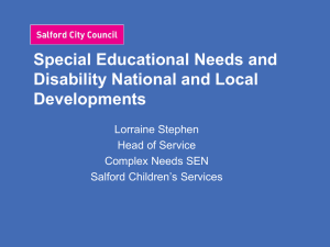 Special Educational Needs and Disability National and Local