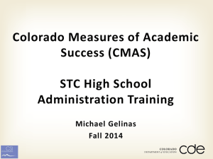 CMAS - Colorado Charter School Institute
