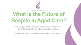 The Future of Respite in Aged Care