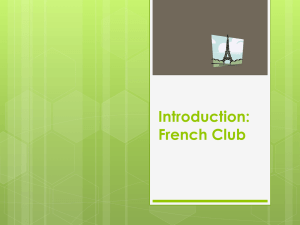 Introduction: French Club