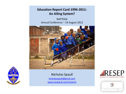 Education Report Card 1996-2011: An Ailing System