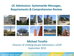 The Application Process - University of California