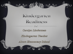 Kindergarten Readiness - Temple Beth El Child Development Center