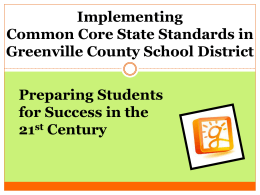 Common Core State Standards and Instructional Implications