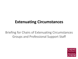 Extenuating Circumstances - Student Experience & Academic