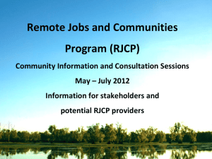 Information for stakeholders and potential RJCP providers