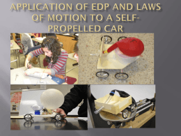 Application of EDP and Laws of motion to a self