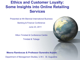 Ethics and Customer Loyalty