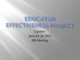 SIS Update on Eductor Effectiveness (PowerPoint) ()