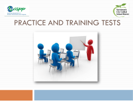 Practice Test Training Test Purpose