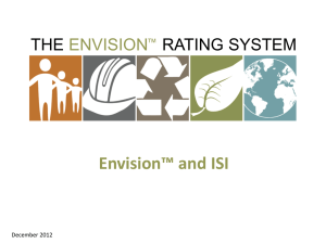 Envision™ and ISI - Institute For Sustainable Infrastructure