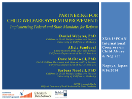 Partnering for Child Welfare System Improvement