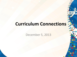 Curriculum Connections ppt