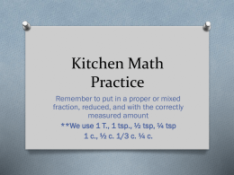 Kitchen Math Practice