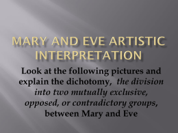 Mary and Eve Artistic interpretation