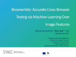 Browserbite: Accurate Cross-Browser Compatibility Testing via
