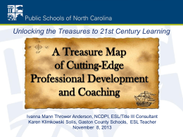 A Treasure Map of Cutting-Edge Professional - ELD