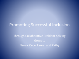 Promoting Successful Inclusion