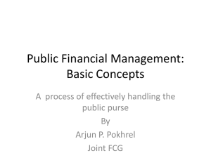 Public Financial Management Concepts