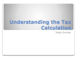 Tax Calculation - Gilbert Public Schools