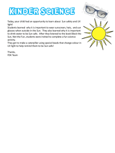 Letter Home – Sun Safety Template