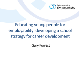Educating young people for employability: developing a
