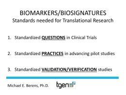 pilot studies - National Biomarker Development Alliance (NBDA)