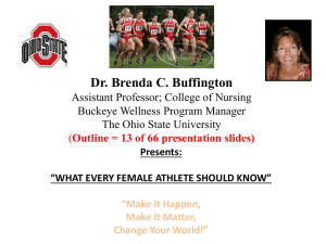 Dr. Buffington- What Every Female Athlete Should Know