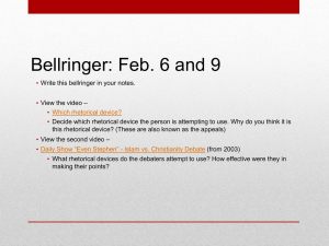 Bellringer: Feb. 6 and 9