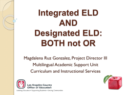 Integrated ELD and Designated ELD PPT