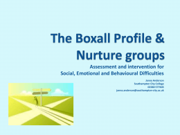 The Boxall Profile & Nurture groups