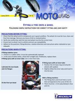 Michelin Motor cycle advice