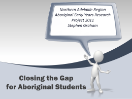Aboriginal Early Years Research Project