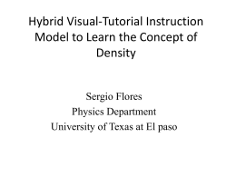 Hybrid Visual-Tutorial Instruction Model to Learn the Concept of