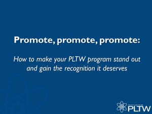 How to make your PLTW program stand out and gain the recognition