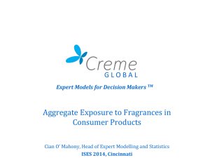 Aggregate Exposures to Fragrances in Consumer