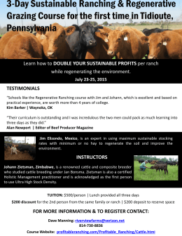 3-Day Sustainable Ranching & Regenerative Grazing Course