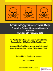 Toxicology simulation day