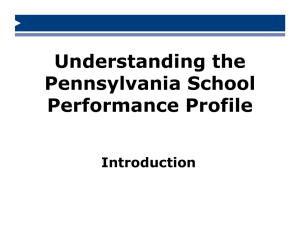 School Performance Profile Update