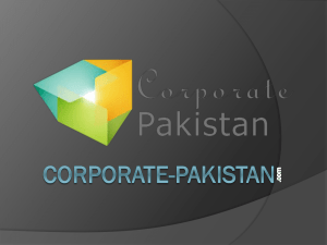 Area of Co-operation - Corporate