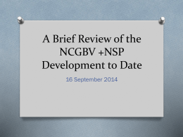 BK Overview of NCGBV & NSP - Sept16