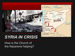 Syria Crisis - Church of the Nazarene