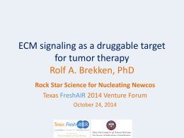 ECM signaling as a druggable target for tumor