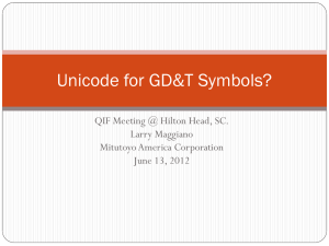 Unicode for GD&T Symbols