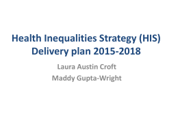 Health Inequalities Strategy refresh